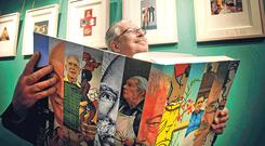 Artist Robert Ballagh lamented how many non-Irish people were directing our top arts institutions. Photo: Julien Behal/PA
