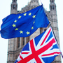 Flagging: The EU and the UK flags fly outside Westminster in London. Photo: PA