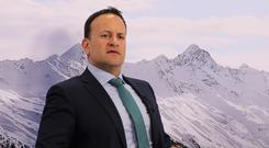 Confusion: Taoiseach Leo Varadkar in Davos yesterday. Photo: Reuters