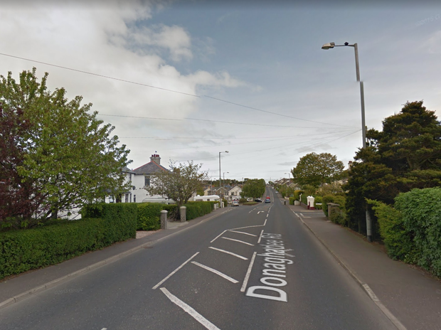 The incident happened on the Donaghadee Road Photo: Google Maps