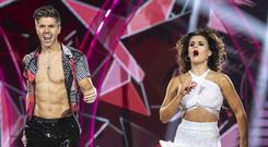Best foot forward: Darren Kennedy and Karen Byrne dancing during the fifth live show. Photo: Kobpix