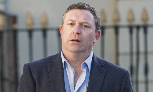 Bail revoked: Barry O'Donoghue outside court in Dublin