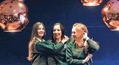 Jessica Jordan, Laura Peyton, and Brigitta Curry, who are fifth-year students at St Louis Community School, Kiltimagh, Co Mayo, were among the attendees at a National Council for Curriculum Assessment seminar in Sligo that was reviewing the Senior Cycle. PHOTO: JULIEN BEHAL