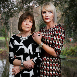 Reform: Top: Clodagh Hawe's sister Jacqueline Connolly and mother Mary Coll Photo: Steve Humphreys