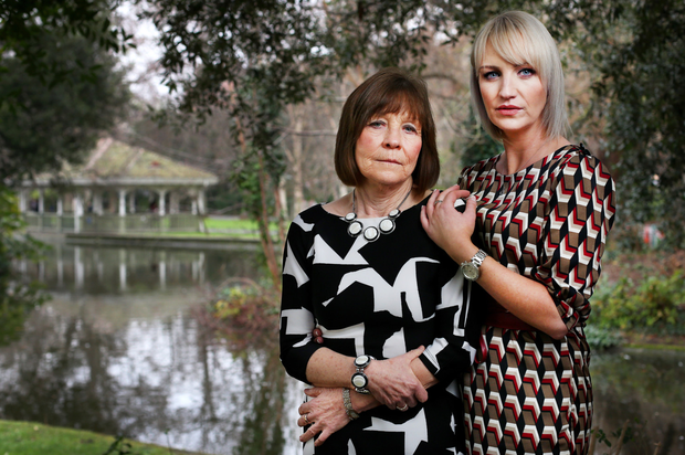 Reform: Top: Clodagh Hawe's sister Jacqueline Connolly and mother Mary Coll. Photo: Steve Humphreys