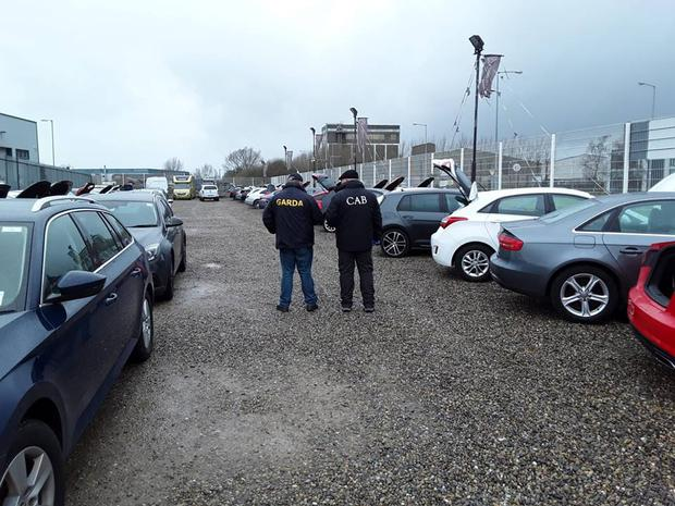 Gardai have this morning swooped on a car sales business in Limerick Photo: Gardai