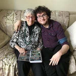 Liam McGlinchey with his grandmother Ruth Savastio