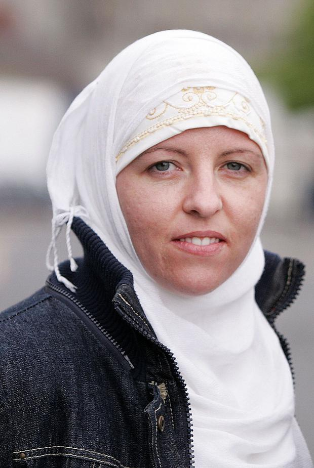 Lisa Smith: in Syrian camp. Picture: Tom Conachy