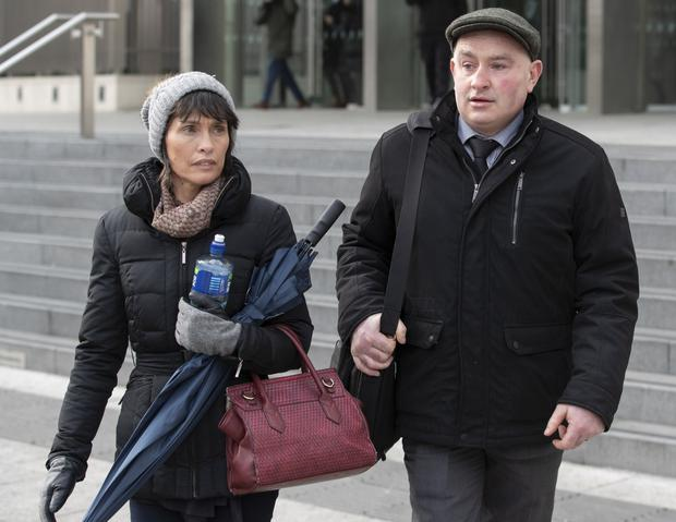 Patrick Quirke pictured leaving court with his wife, Imelda. Picture: Collins