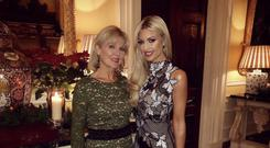 Charity lunch... Rosanna Davison and her mum Diane