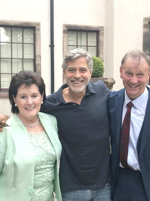 George Clooney jets in to Ireland to see his cousins - and