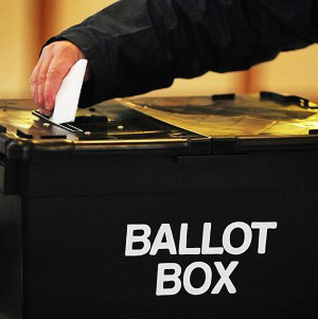 'Voters would do well to give some attention to this election, combined with the local council elections, to be held on Friday, May 24.' stock photo