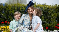 Most stylish winner Paula Gannon with her sons Ely (8) and Ezra (4). Photo: Andres Poveda