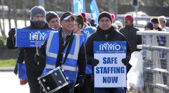 Protests: Nurses have staged several strikes