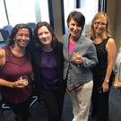 Paula McMahon (second from left) with some of the award winning team from the South Florida Sun Sentinel newspaper