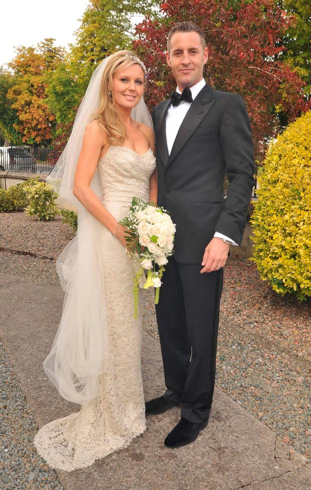 Tara and Trevor Musgrave on their wedding day