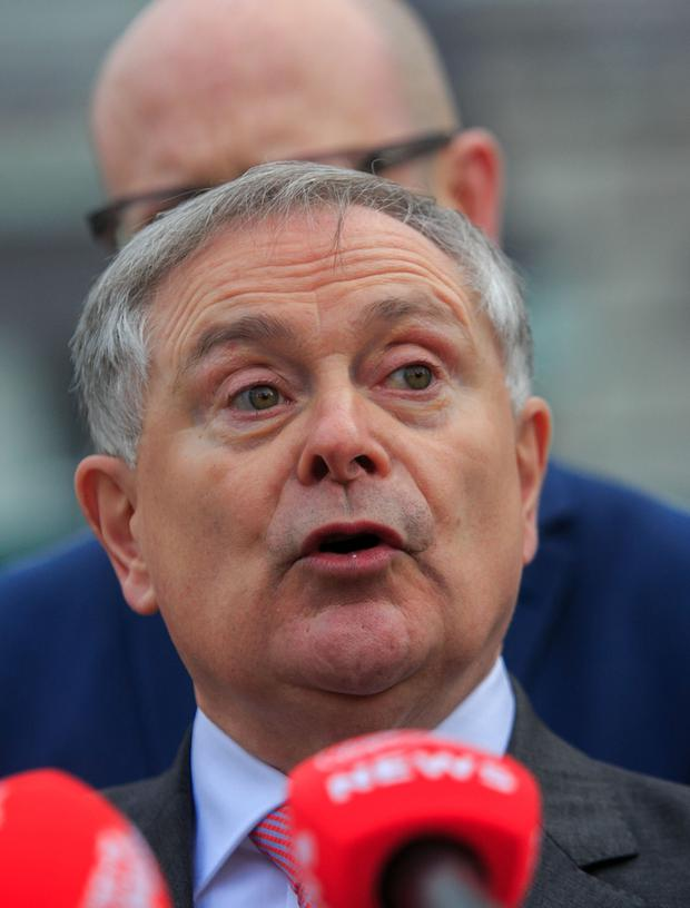 Private bill: Labour leader Brendan Howlin made the proposals. Picture: Collins