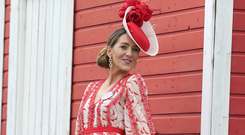Champion look: Kate Nally McCormack, from Longford, overall winner of the Best Dressed Lady competition yesterday. Photo: Damien Eagers / INM