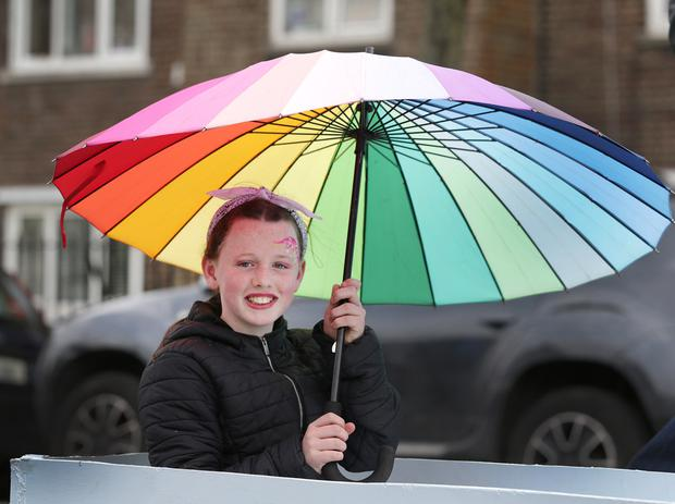 Libby Bewley, 10, at the Ringsend and Irishtown Community Centre (RICC) 11th annual May Day Parade. Picture credit; Damien Eagers