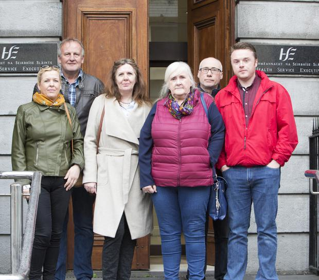 Daughter Aisling, son-in-law John Tierney, daughters Maria McNamara and Dee O'Dwyer, son-in-law Noel Monahan and son Brian O'Dwyer. Picture: Liam Burke/Press 22