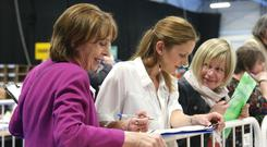 Roisin Shortall of the Social Democrats in Dublin's RDS. Photo: Damien Eagers / INM