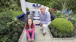 Festival fun: Anthony Ryan from Athy with his daughter Sadhbh. Picture: Tony Gavin
