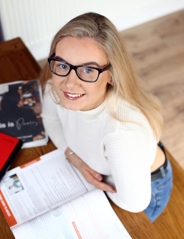 Looking to life beyond the Leaving Cert: Diarist Elaine Murphy is getting ready for weeks of exam stress. Photo: Mark Condren