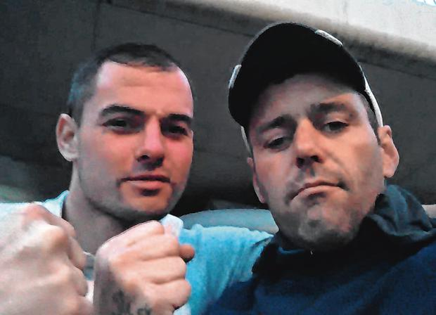 Peter Donnelly (right) with Damien Singleton (left)