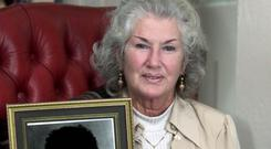 'I love you with all my heart': Philomena Lynott with a photo of her late son, Thin Lizzy star Phil Lynott. Photo: Colin Keegan/Collins