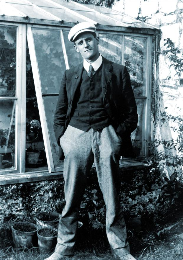 SILENCE, EXILE, AND CUNNING: Joyce in 1904 in the garden of his friend Constantine Curran
