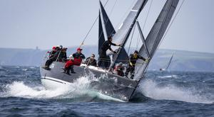 Splashing around: Competitors take part in the O'Leary Life Sovereign's Cup 2019 organised by Kinsale Yacht Club. Photo: David Branigan/Oceansport