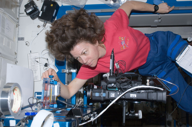 Cady Coleman on the International Space Station