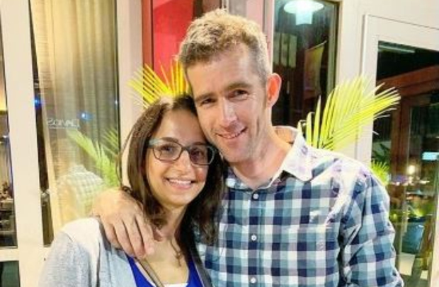 Happily married: Keith Byrne and Keren Zaga – a US citizen – tied the knot 10 years ago
