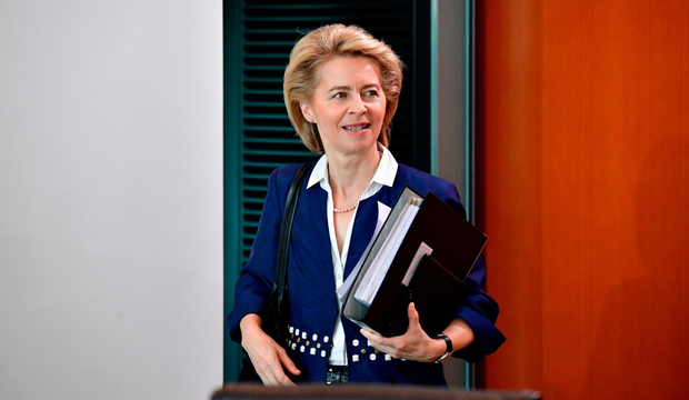 Manifesto: Ursula von der Leyen has set out her position in letters to the two main power blocs in the European Parliament. Photo: AFP/Getty Images