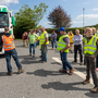 Outcry: Beef farmers protest over prices at the Dawn Meats plant in Grannagh, Co Kilkenny. Photo: Dylan Vaughan
