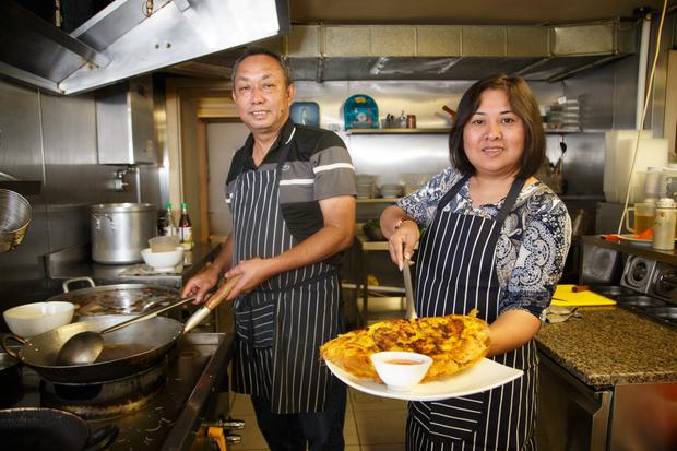 Restaurateurs: Tri Quoc Nguyen, who came to Ireland in 1979 and now owns Pho Viet restaurant on Parnell Street, Dublin, with his wife Tuyet Pham. Photo by Mark Condren