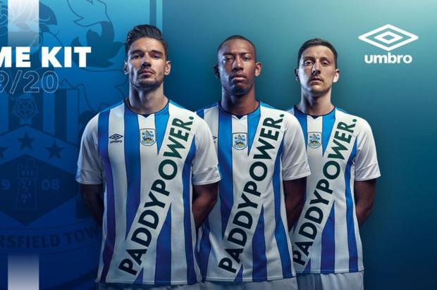 Fake news: Huddersfield Town unveiled their new 2019/20 kit last month in what turned out to be a publicity stunt with bookmakers Paddy Power