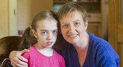 Extraordinary impact: Vera Twomey and Ava pictured at their home in Cork. Photo: Darragh McSweeney
