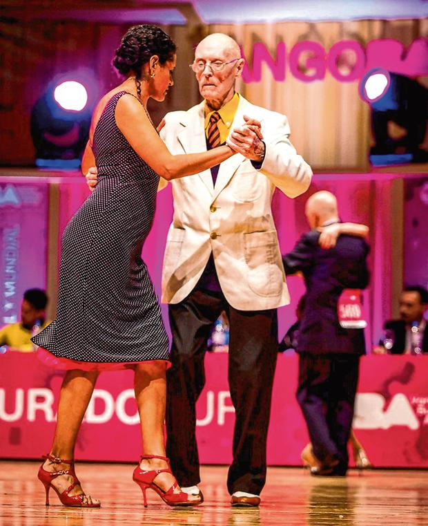 King of swing: James McManus and his Argentine dance partner Lucia Seva received a standing ovation