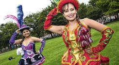 Many Luz Garcia and Danya Navarro of Bolivia at the launch of the Festival of Nations, a multicultural festival which will take place this Saturday 24th August at Mountjoy Square from 12pm-6pm. Picture: Arthur Carron