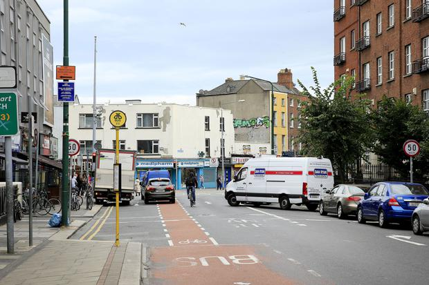 The junction' where Blessington Street joins Dorset Street in the north of the city. Picture: Gerry Mooney