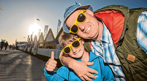 John and Jake (9) Stephens from Gorey, Co Wexford. Photos: Mark Condren