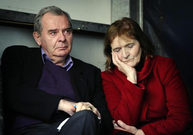 Failed gamble: Seán Quinn, with wife Patricia, was bankrupted over losses he suffered. Photo: Mark Marlow/Pacemaker