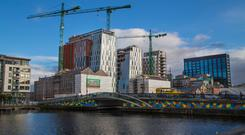 Works: The new Google development on the site of Boland's Mill in Dublin will house 1,300 employees. Photo: Owen Breslin