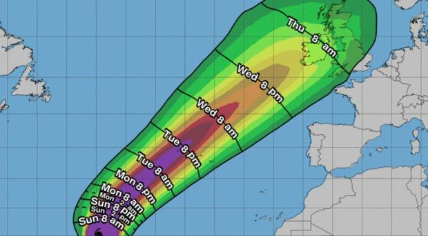 Storm Lorenzo: Department of Education tells schools on west coast to 'err on side of caution'