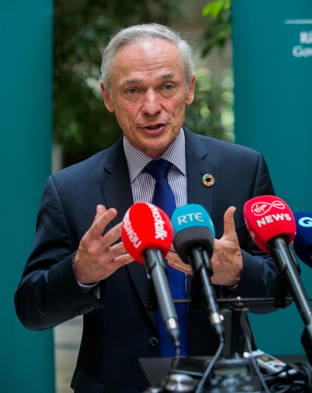 More work required: Climate Action Minister Richard Bruton. Photo: Collins
