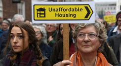 Tenant trap: Sky-high rents mean saving for a deposit on a home is an impossible task. Photo: Clodagh Kilcoyne