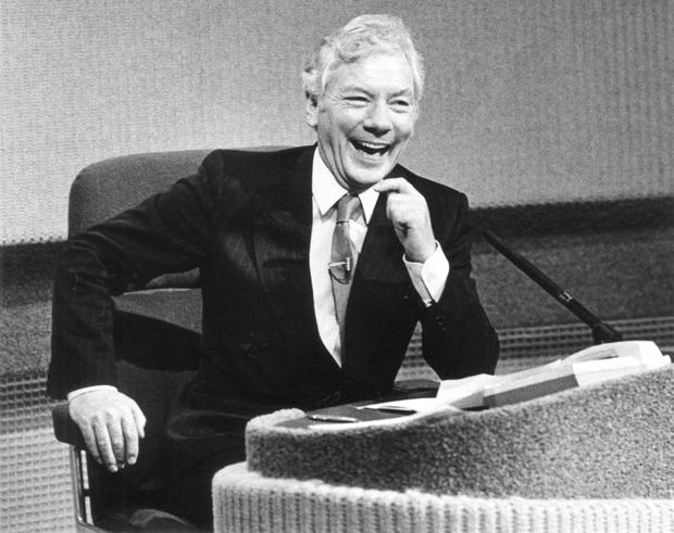Television peak: Gay Byrne on The Late Late Show in the 1980s. Photo by John Carlos