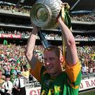 Glory days: Geraghty hoists the Leinster Trophy in 1999