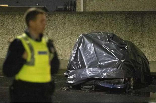 Dublin: Body discovered in burning auto